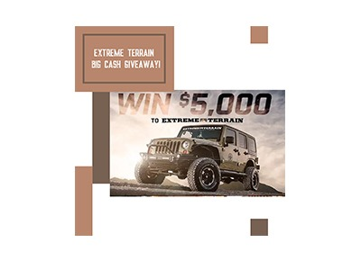 Extreme Terrain Cash Giveaway