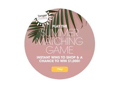 Tanger Outlets Matching Sweepstakes