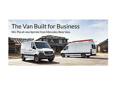 Win a Mercedes-Benz Sprinter Van