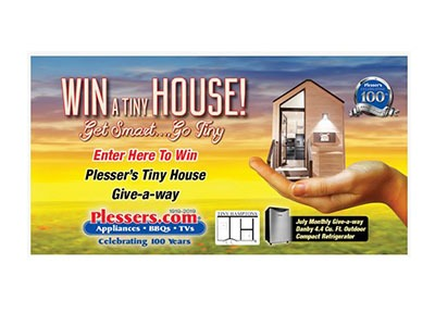 Plessers Tiny Home July Giveaway
