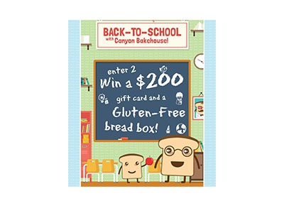 Canyon Bakehouse Back to School Giveaway