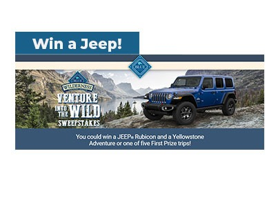 Blue Wilderness Venture into the Wild Sweepstakes