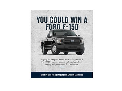 Sheplers Ford Truck Sweepstakes