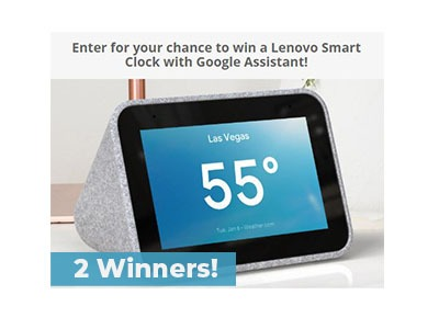 Win a Lenovo Smart Clock
