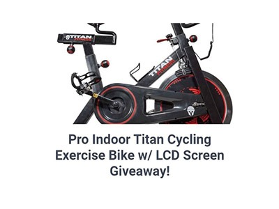 Titan Exercise Cycle Giveaway