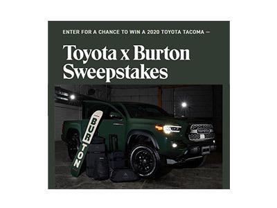 Burton Toyota Truck Giveaway