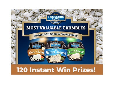 Treasure Cave Cheese Instant Win Sweepstakes