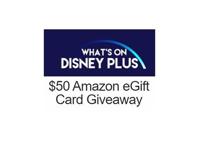 What's on Disney Plus Amazon Gift Card Sweepstakes