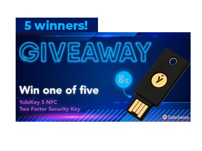 YubiKey Two-factor Authentication Key Giveaway