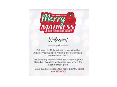 Hallmark Channel Christmas Bracket Sweepstakes