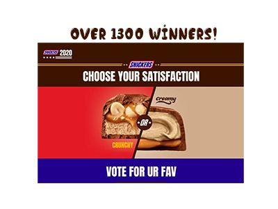 Snickers Crunchy or Creamy Sweepstakes