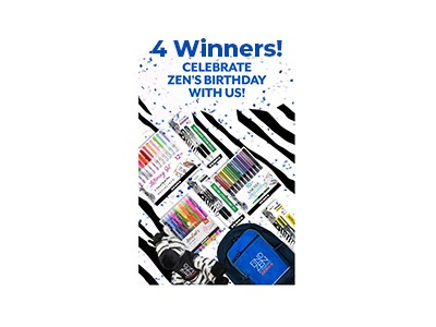 Zebra Pen Birthday Celebration Sweepstakes