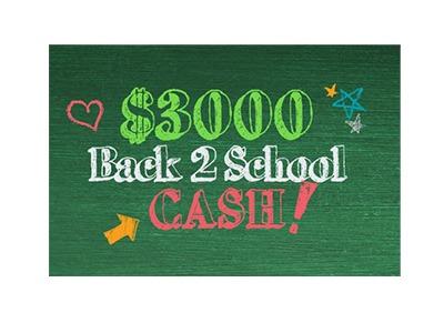 $3,000 Back-2-School Cash Sweepstakes