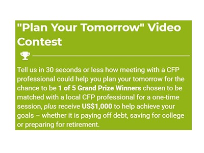 Plan your Tomorrow Video Contest