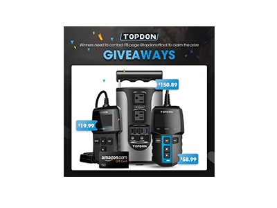 Amazon Gift Card & TOPDON Battery Tester Giveaway