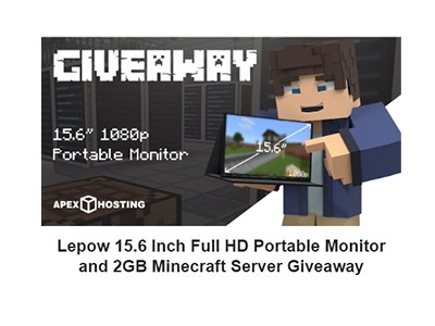 2GB Apex Hosting Server and Portable Monitor Giveaway