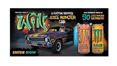 Monster Energy Custom Painted Car Sweepstakes