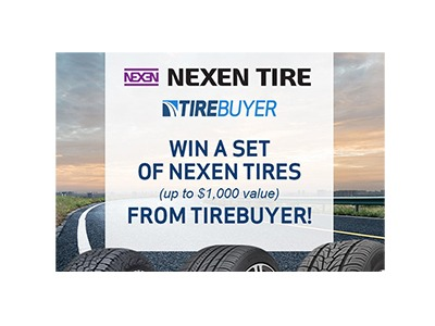 Win A Set of 4 Nexen Tires Sweepstakes