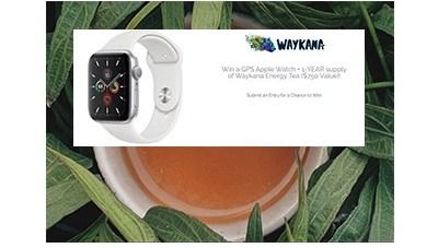 Win an Apple Watch + Waykana Energy Tea