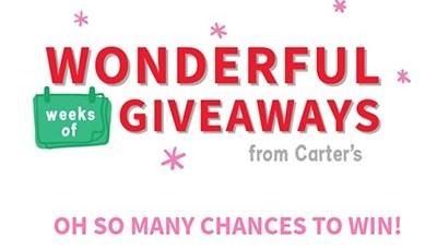 Carter's Wonderful Weeks of Giveaways