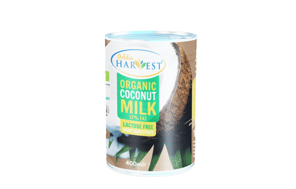 Golden Harvest Organic Coconut Milk -400 ml  | with No Guar Gum| Available in Packs 4,6,8&12 Only