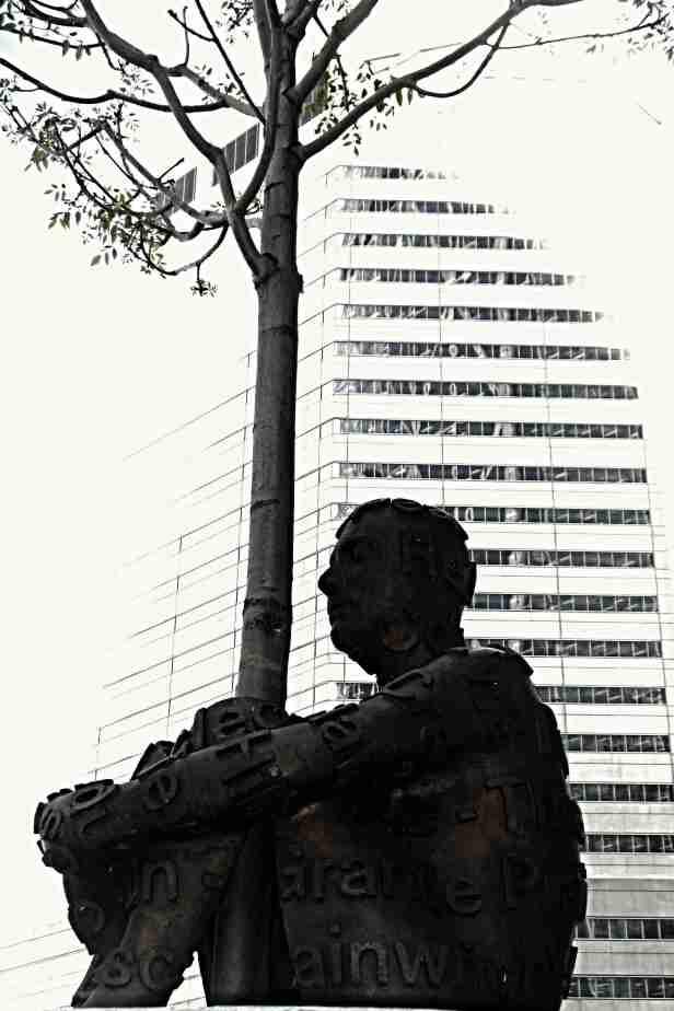 alberta's dream tree hugger sculpture