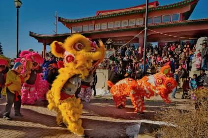 jing wo lion dance calgary 2015 chinese new year temple
