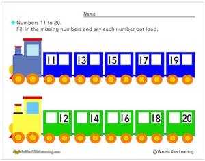 Number Trains 11-20