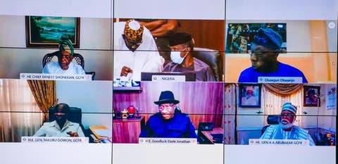 The President, Major General Muhammadu Buhari (retd.), is currently meeting some former Nigerian leaders.