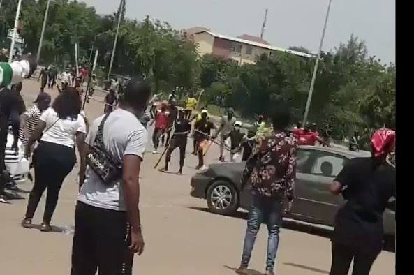 Thugs attack protesters in Abuja and Lagos