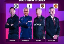 Nominees for the Premier League Manager of the month for November