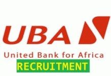 Recruitment at United Bank for Africa Plc