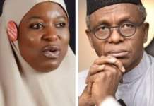 """Kaduna Sex Party: """"They Are Just Behaving Anyhow"""" Aisha Tackles El-Rufai Govt For Building Demolition"""