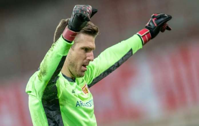 Union Berlin Goalkeeper Andreas Luthe Celebrates After Fridays Home Win Over Bayer Leverkusen