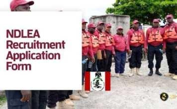 NDLEA Recruitment Update