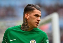 EPL: Guardiola claims goalkeeper Ederson could take Man City's next penalty
