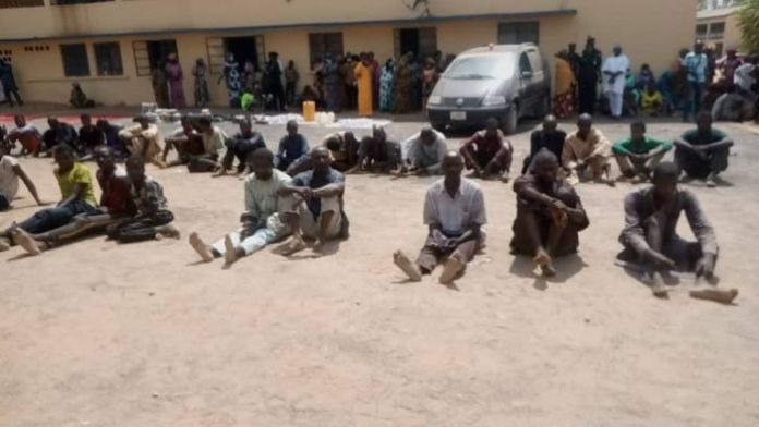 JUST IN!!! Police Parade 40 Suspected Kidnappers, Cattle Rustlers In Adamawa