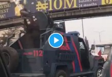 Police In Show Of Force At #Lekkitollgate (Video, Photos)