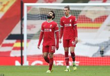 Liverpool record sixth consecutive home loss