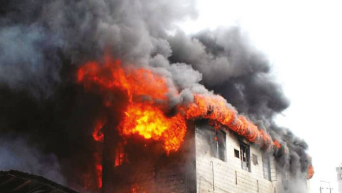 Aso Rock on fire
