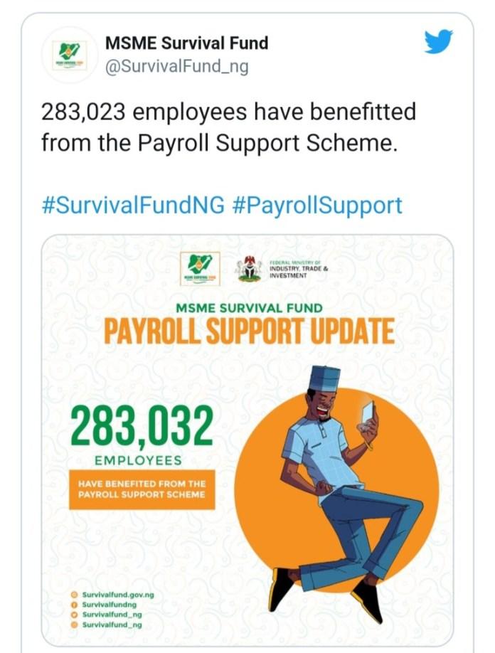Survival Fund date of disbursement