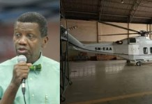 FG suspends Pastor Adeboye's helicopter from flying -See Reasons