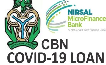 CBN COVID-19 Loan News For Household/SMEs (CBN Loan Application Portal 2021)