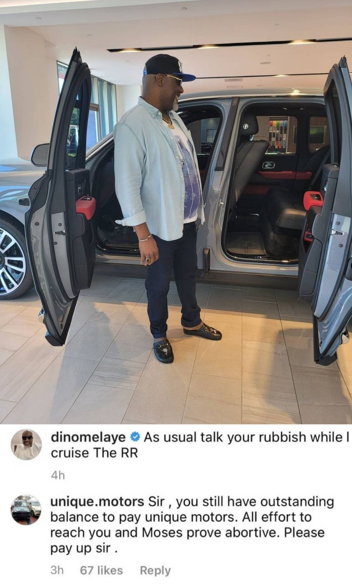 Dino Melaye Fires Back at automobile company that accused him of buying car without paying
