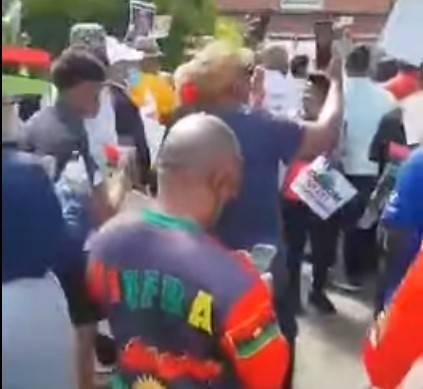 Nigerians Protest in Kenyan Embassy Over Nnamdi Kanu's Arrest