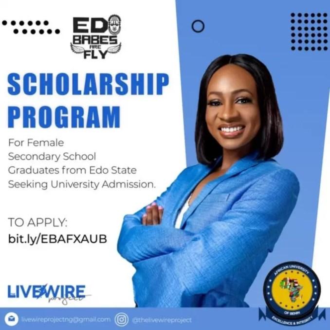 Edo Babes Are Fly Scholarship Program 2021