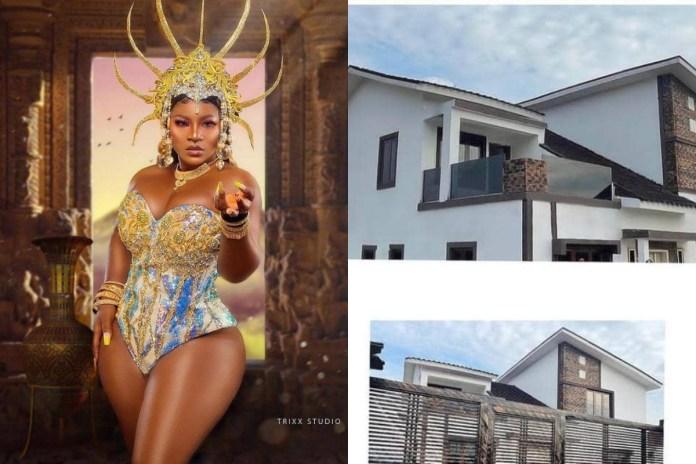 Nollywood drama doll Destiny Etiko Gifts Herself A Mansion In Enugu As Birthday Gift