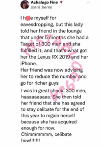 Lady Sleeps With 300 Men Within 5 Months To Acquire A Car And An Iphone