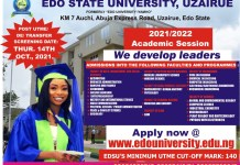 Apply For Edo State University Uzairue Admission 2021 - Jamb CutOff Mark 140