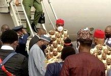 President Buhari Arrives Imo State